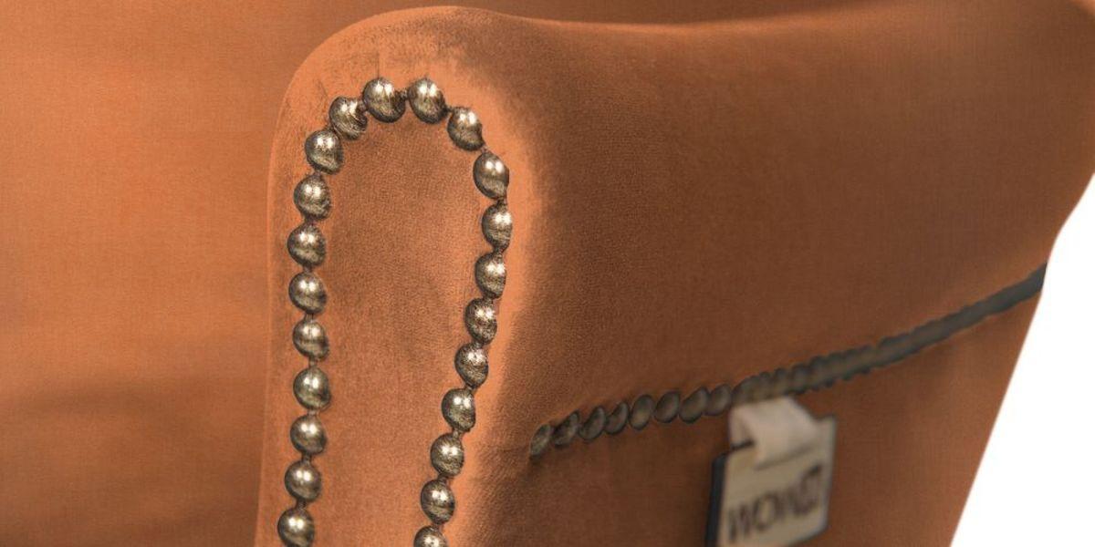Кресло WOWIN Голден (Бледно-лососевый велюр) - фото 6