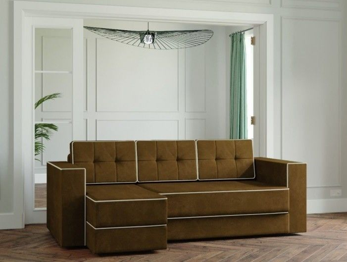 Диван Настоящая мебель Ванкувер Модерн (модель: 00-00000028) коричневый - фото 1
