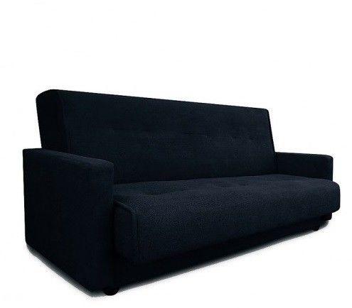 Диван Луховицкая мебельная фабрика Милан (Астра черный) пружинный 120x190 - фото 1