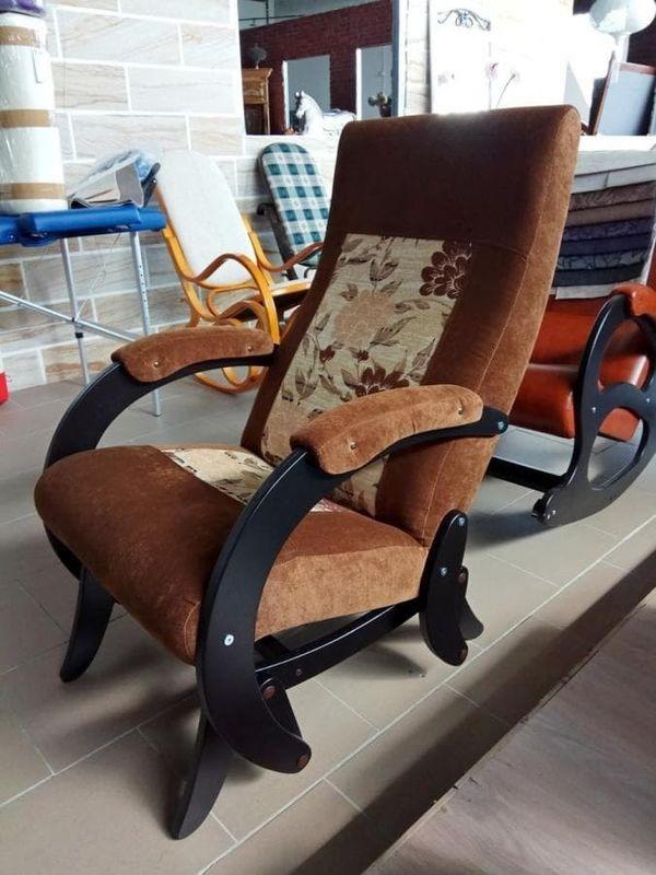 Кресло Бастион 1М глайдер (pearl 108 +цветы) - фото 4