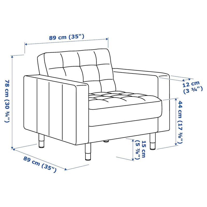 Кресло IKEA Ландскруна 492.488.82 - фото 6
