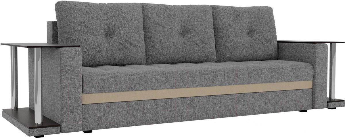 Диван Mebelico Атланта М 2 стола рогожка серый - фото 4