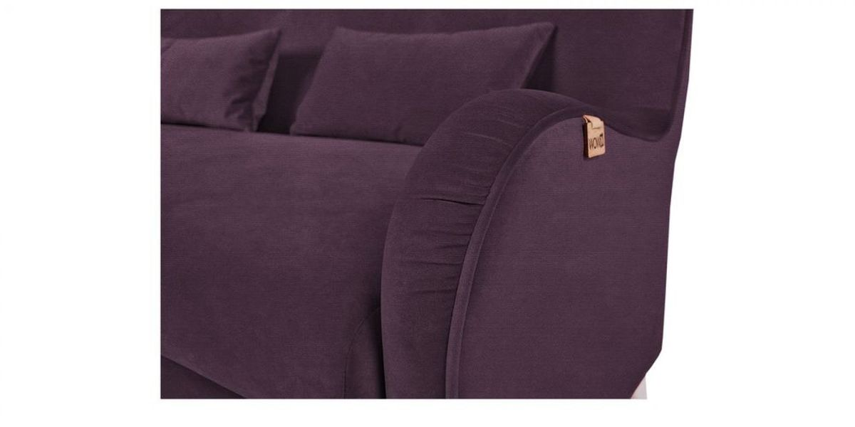 Диван WOWIN Амели Темно-фиолетовый велюр (2.5-местный) - фото 3