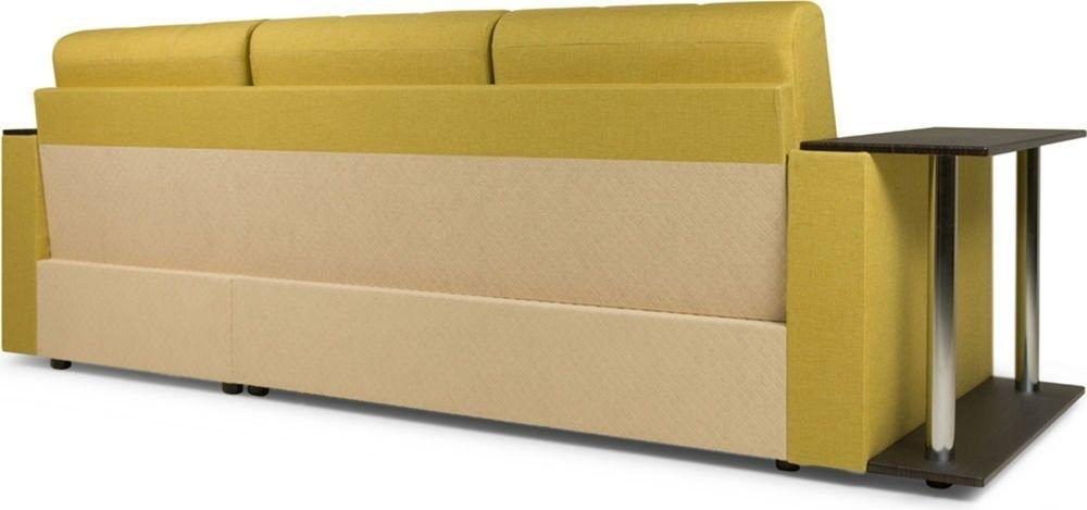 Диван Woodcraft Угловой Атланта Textile Yellow - фото 7