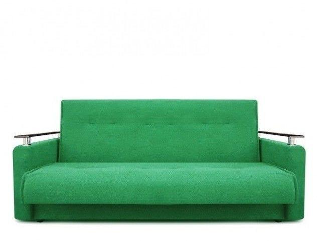 Диван Луховицкая мебельная фабрика Милан Люкс (Астра зеленый) пружинный 140x190 - фото 2