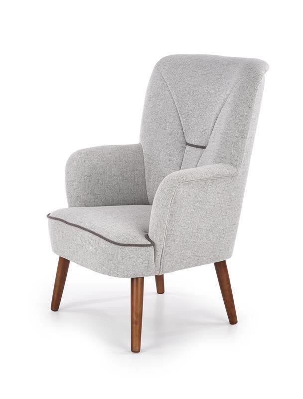 Кресло Halmar BISHOP (светло-серый/орех) V-PL-BISHOP-FOT - фото 2
