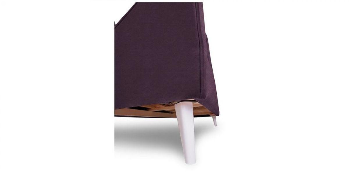 Диван WOWIN Амели Темно-фиолетовый велюр (2.5-местный) - фото 9
