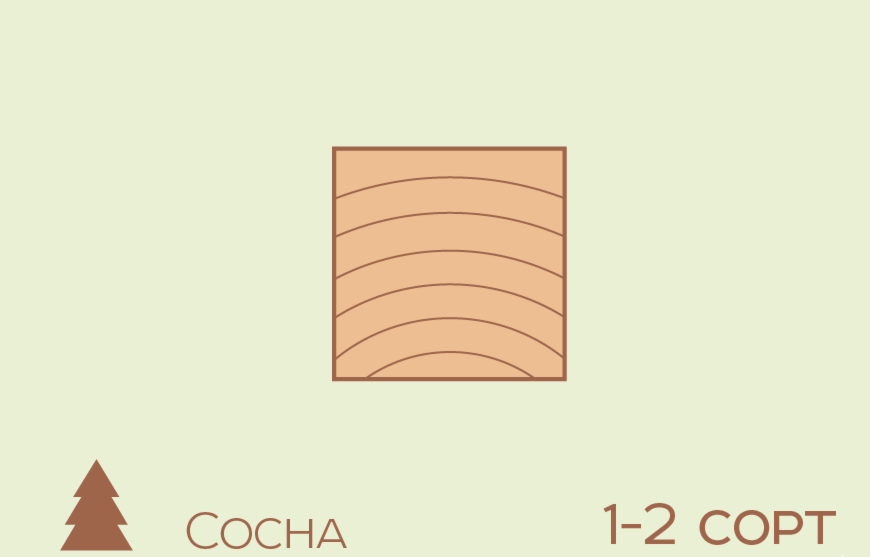 Брус Строганный Сосна 100*100*3000 сорт 1-2 технической сушки - фото 1