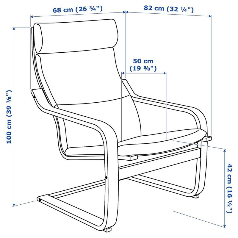 Кресло IKEA Поэнг 792.514.63 - фото 5