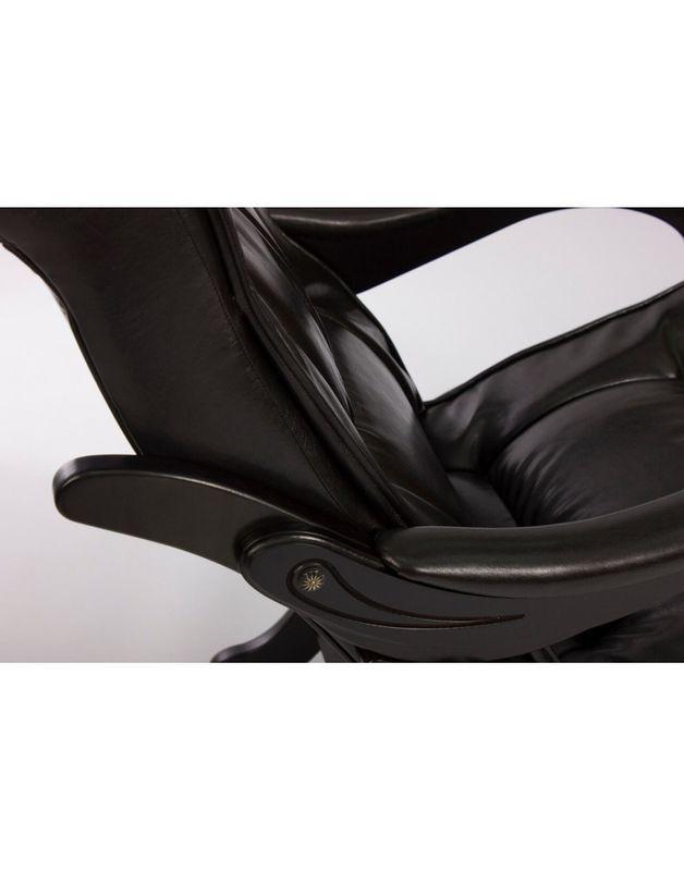 Кресло Impex Кресло-гляйдер, Модель 78 экокожа (vegas lite black) - фото 6