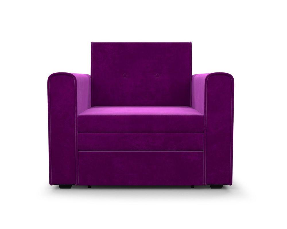 Кресло Мебель-АРС Санта фиолет (микровельвет) - фото 3