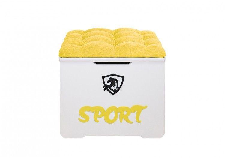 Пуфик DarDav Спорт 40x50x43 (Velvet Lux жёлтый) - фото 1