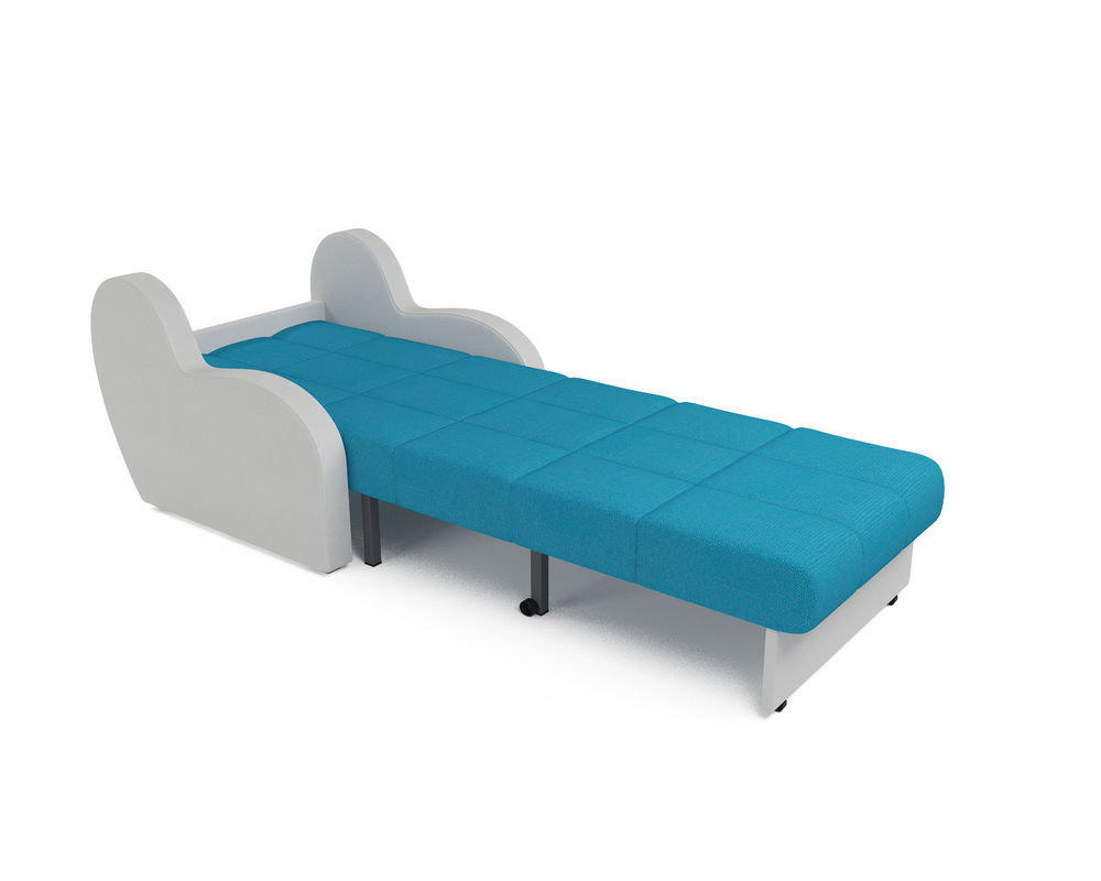 Кресло Мебель-АРС Аккордеон Барон синий (рогожка + экокожа) - фото 6