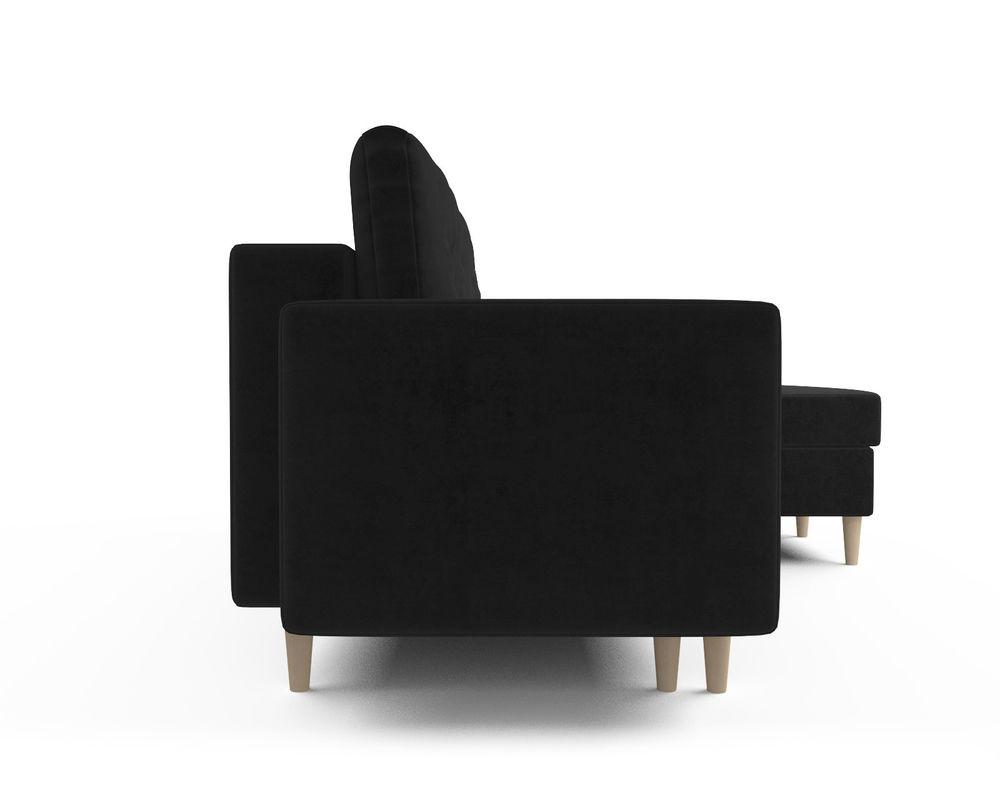 Диван Мебель-АРС Белфаст (велюр черный / НВ-178/17) - фото 3