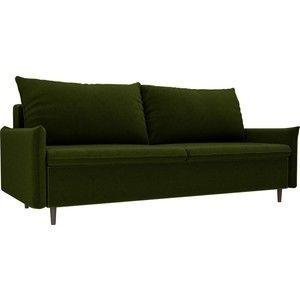 Диван ЛигаДиванов Хьюстон микровельвет зеленый - фото 1