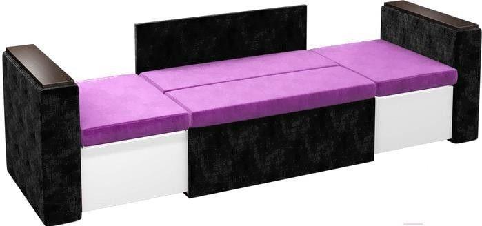 Диван Mebelico Арси 2 микровельвет черный/фиолетовый - фото 6