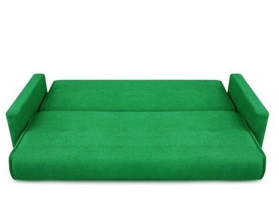 Диван Луховицкая мебельная фабрика Милан (Астра зеленый) пружинный 140x190 - фото 3