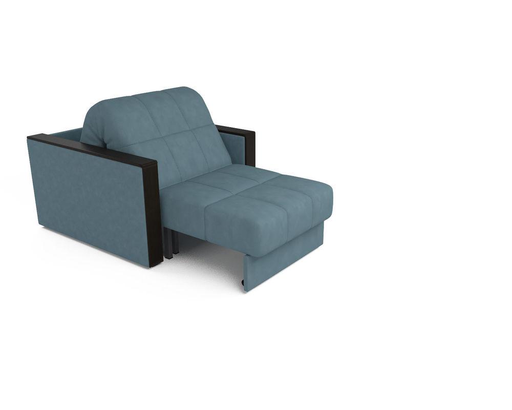 Кресло Мебель-АРС Техас голубой Luna 089 (микровелюр) - фото 6