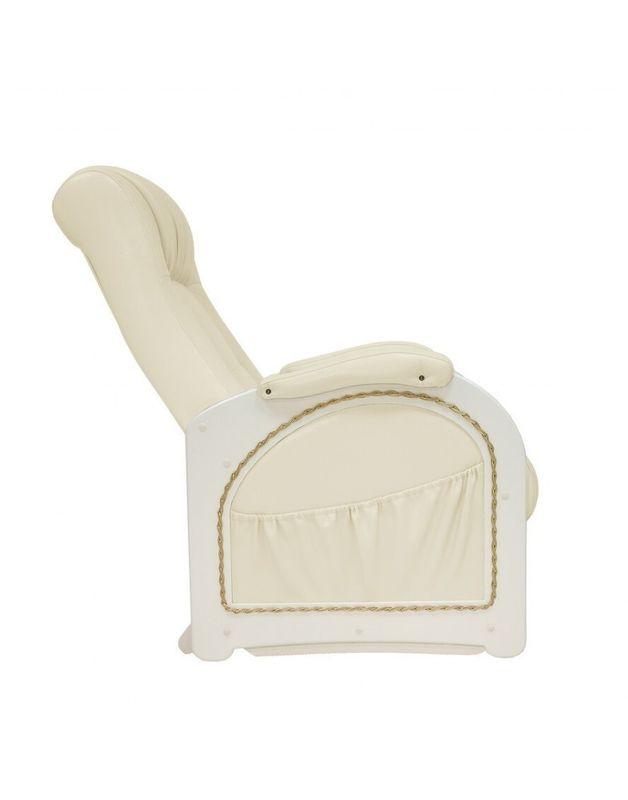 Кресло Impex Кресло-гляйдер Модель 48 экокожа сливочный (oregon 106) - фото 3