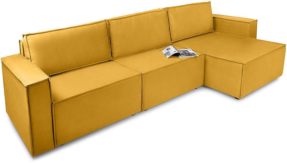 Диван Woodcraft Лофт Velvet Угловой Yellow - фото 2