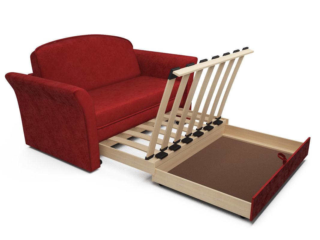 Диван Мебель-АРС Малютка №2 (бархат красный  STAR VELVET 3 DARK RED) - фото 5