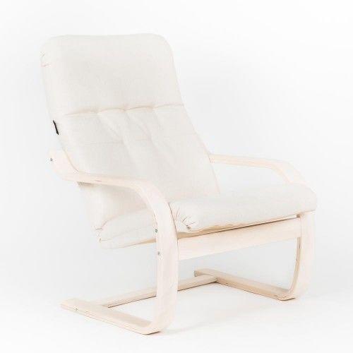 Кресло Greentree Сайма береза/ткань Гардения - фото 1