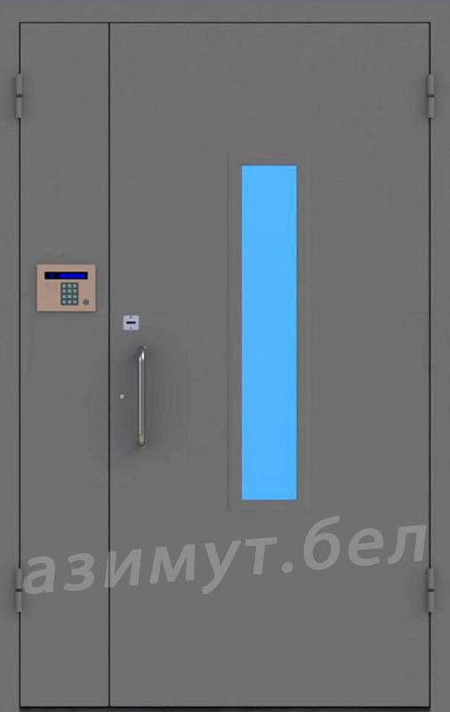 Дверь промышленная, противопожарная Азимут Домофонная 2 - фото 1
