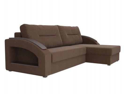 Диван ЛигаДиванов Канзас угловой правый 101160 рогожка коричневый - фото 3