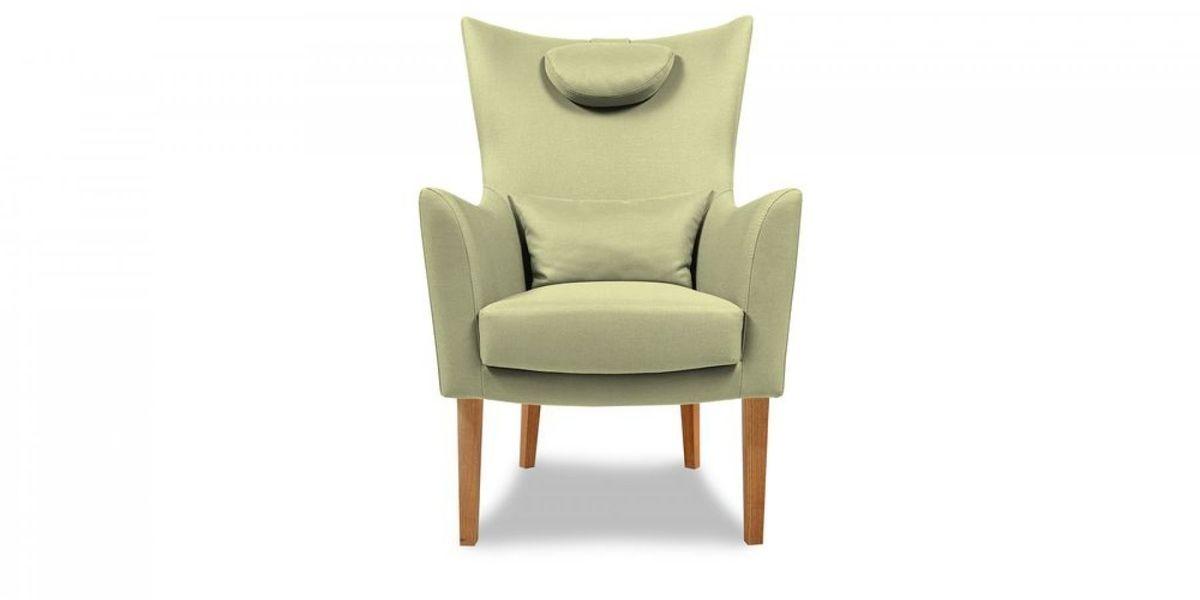 Кресло WOWIN Элеганза высокое (Серо-бежевая микророгожка) - фото 2
