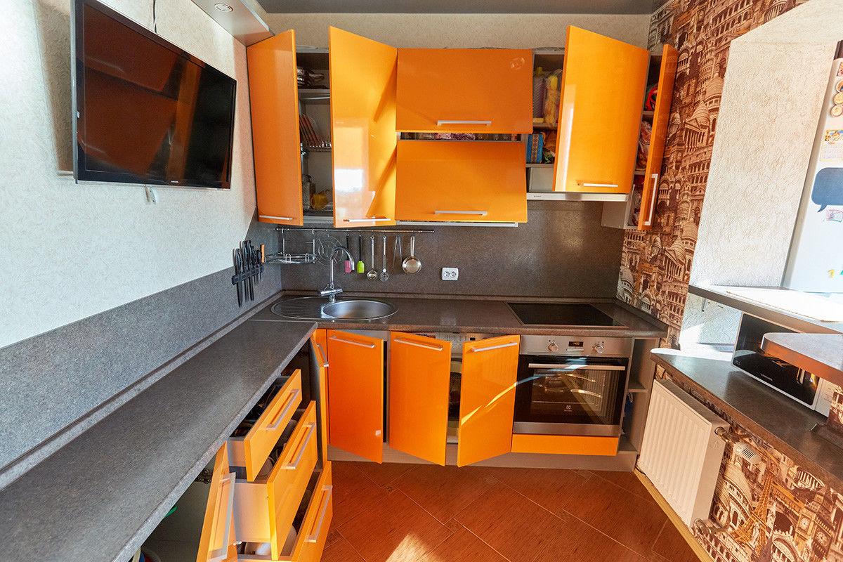 Кухня Шеф кухни из пластика Оранжевый апельсин - фото 16