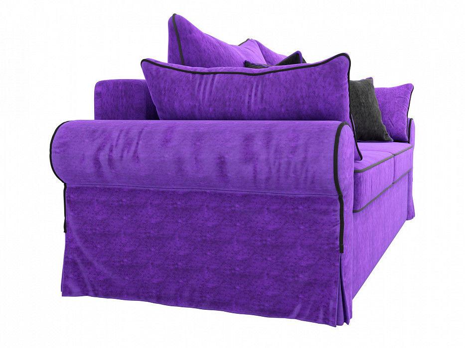 Диван Mebelico Элис прямой Велюр фиолетовый\черный - фото 5