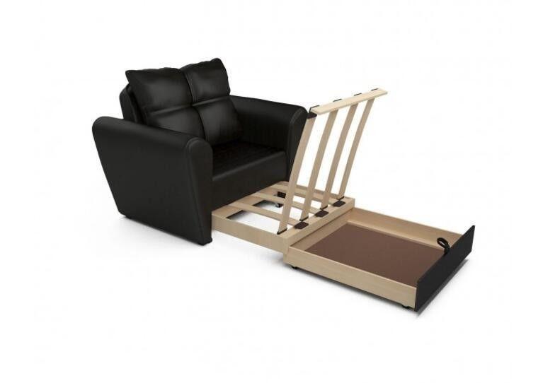 Кресло Craftmebel Квартет - экокожа черная - фото 4