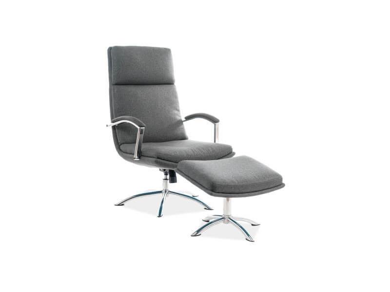 Кресло Signal JEFFERSON TAP. 176, кресло+подставка для ног (серый) JEFFERSONSZ - фото 1