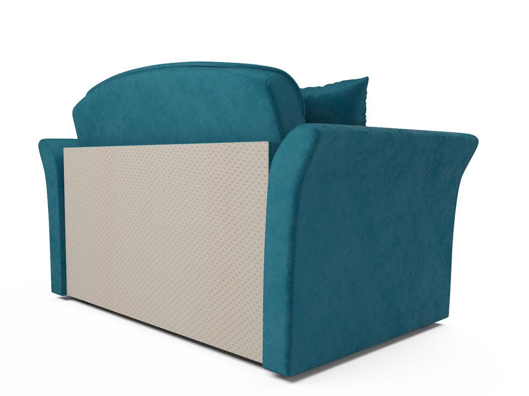 Диван Мебель-АРС Малютка №2 (бархат сине-зеленый  STAR VELVET 43 BLACK GREEN) - фото 3