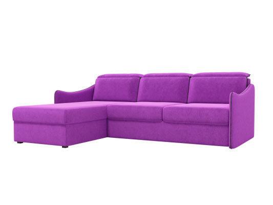 Диван ЛигаДиванов Скарлетт 125 угловой левый 60677 вельвет фиолетовый - фото 1