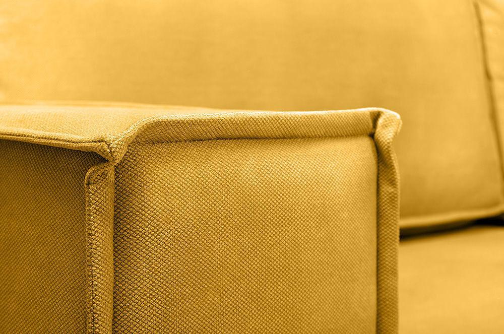 Диван Woodcraft Лофт Velvet Угловой Yellow - фото 11
