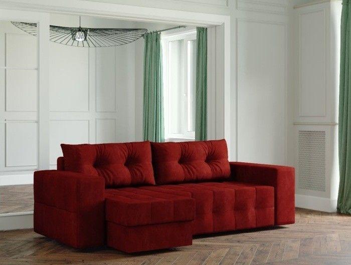Диван Настоящая мебель Ванкувер Мейсон (модель: 00-00003439) бордовый - фото 1