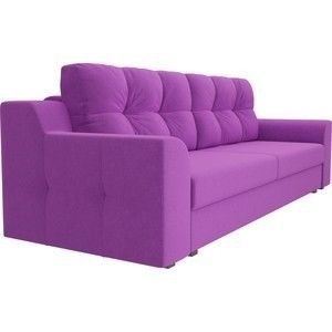 Диван ЛигаДиванов Сансара микровельвет фиолетовый - фото 2