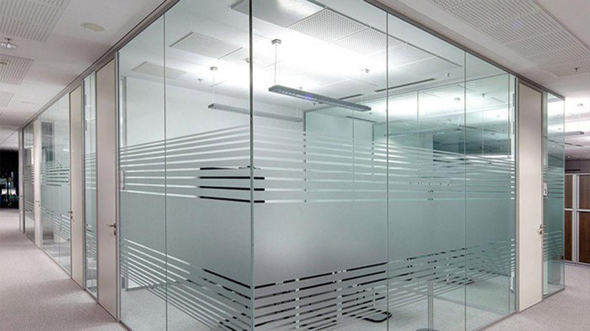 Перегородка Valtera офисная из полированного стекла 10мм - фото 1