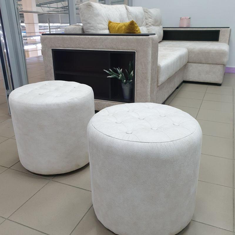 Пуфик DM-мебель Пуф пикованный (белый) - фото 1