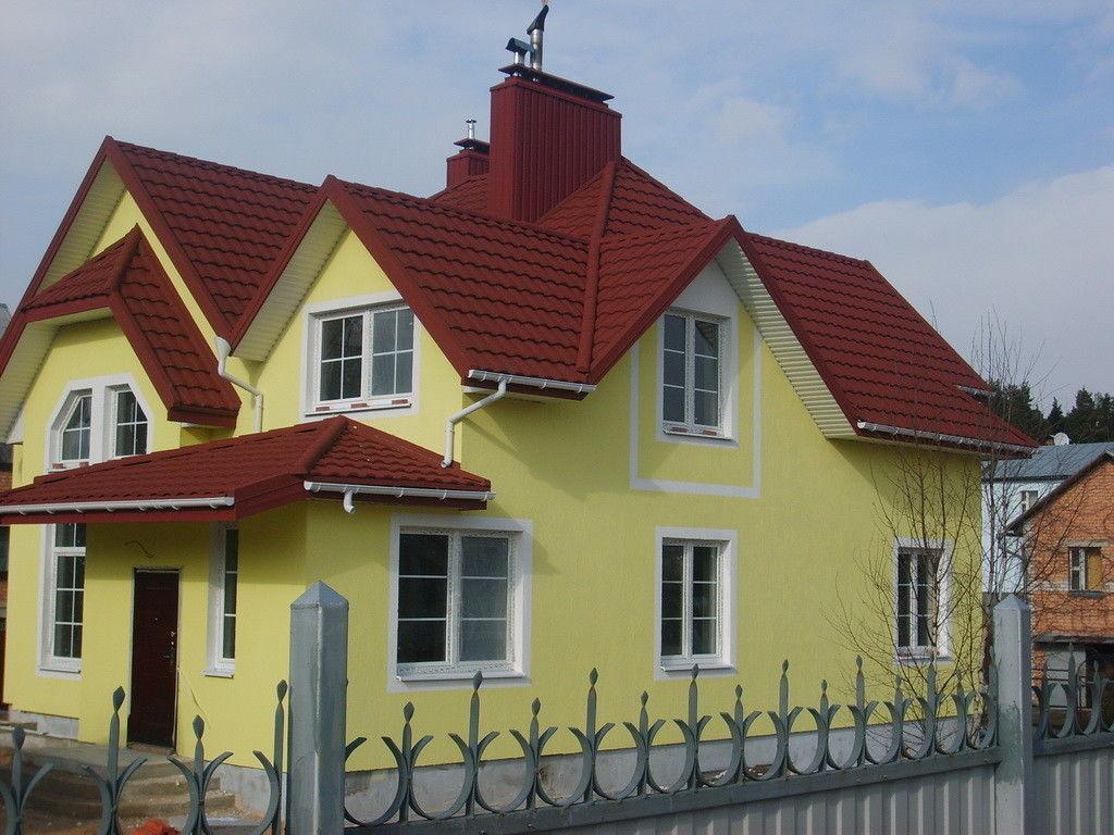 фото покраски дома и крыши сочетание цветов улица гиляровского