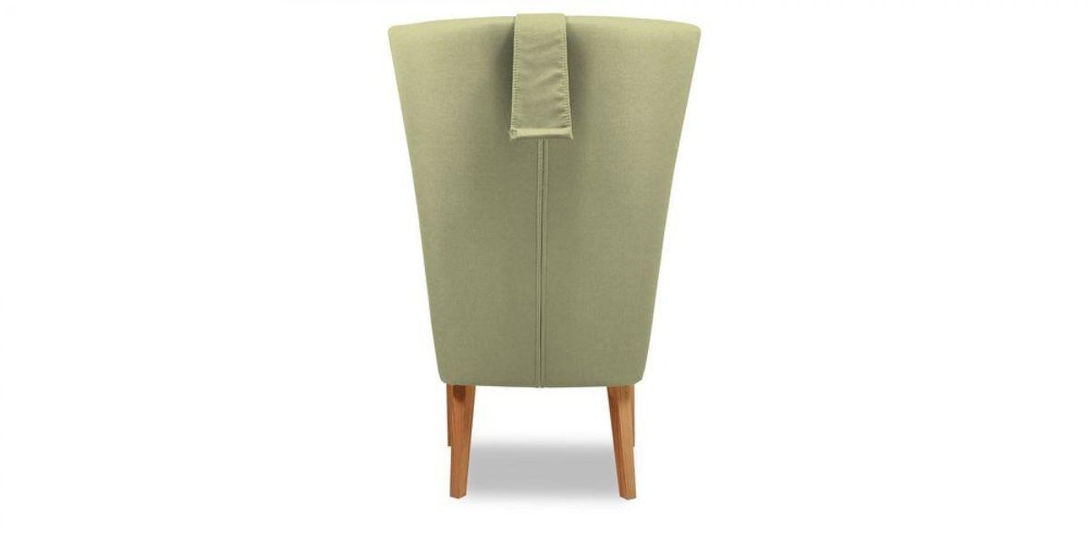 Кресло WOWIN Элеганза высокое (Серо-бежевая микророгожка) - фото 5