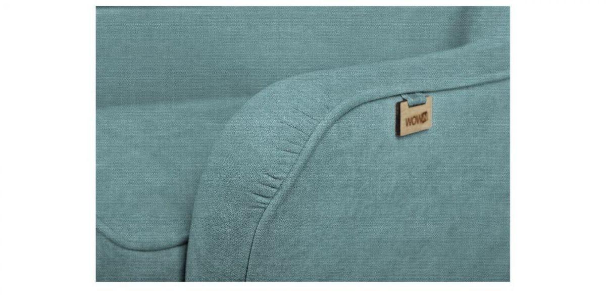 Кресло WOWIN Нуар (Бледно-васильковая рогожка) - фото 3
