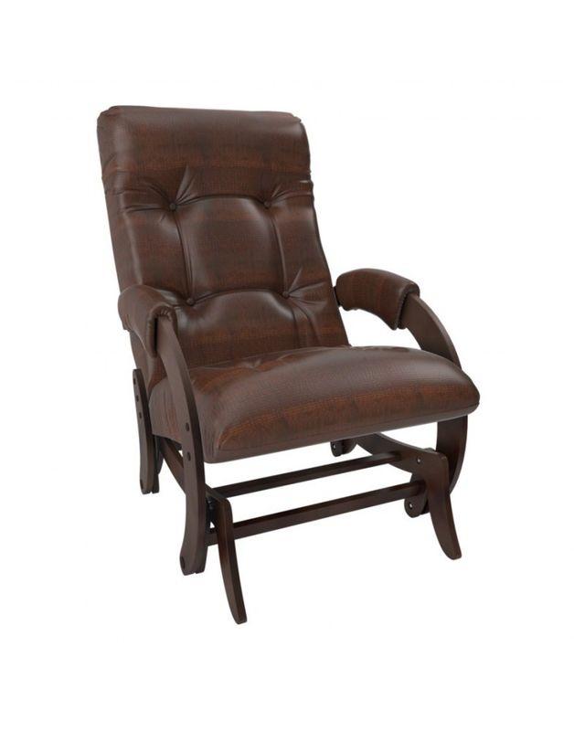 Кресло Impex Кресло-гляйдер Модель 68 экокожа орех (Антик-крокодил) - фото 1