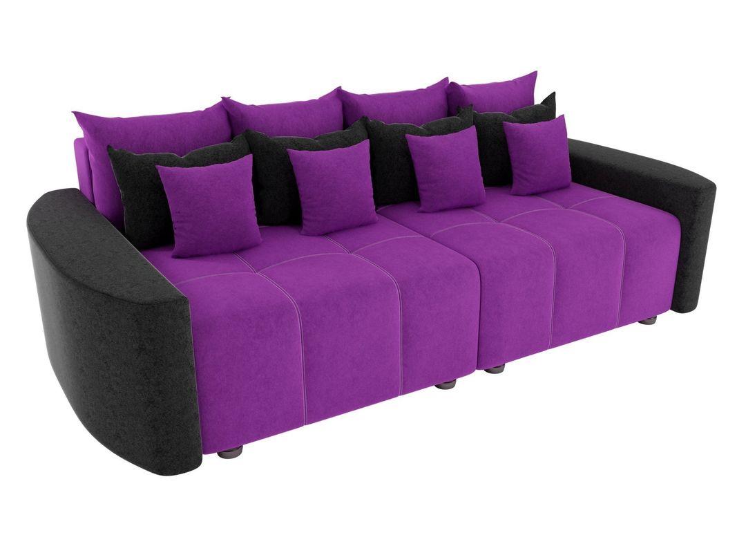 Диван ЛигаДиванов Бристоль вельвет фиолетовый/черный - фото 2