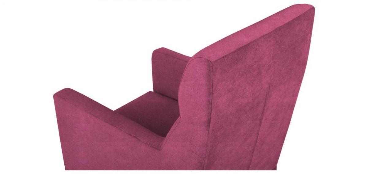 Кресло WOWIN Полар высокое (Фуксия велюр) - фото 4