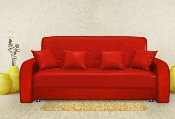 Диван Луховицкая мебельная фабрика Престиж красный (140x190) пружинный - фото 1
