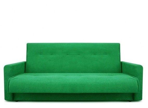 Диван Луховицкая мебельная фабрика Милан (Астра зеленый) пружинный 120x190 - фото 1