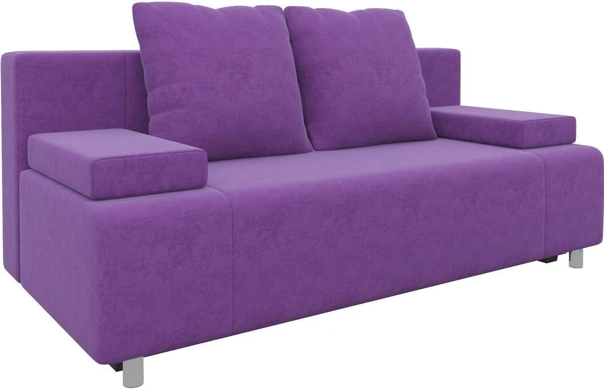 Диван Mebelico Чарли 63 микровельвет фиолетовый - фото 2