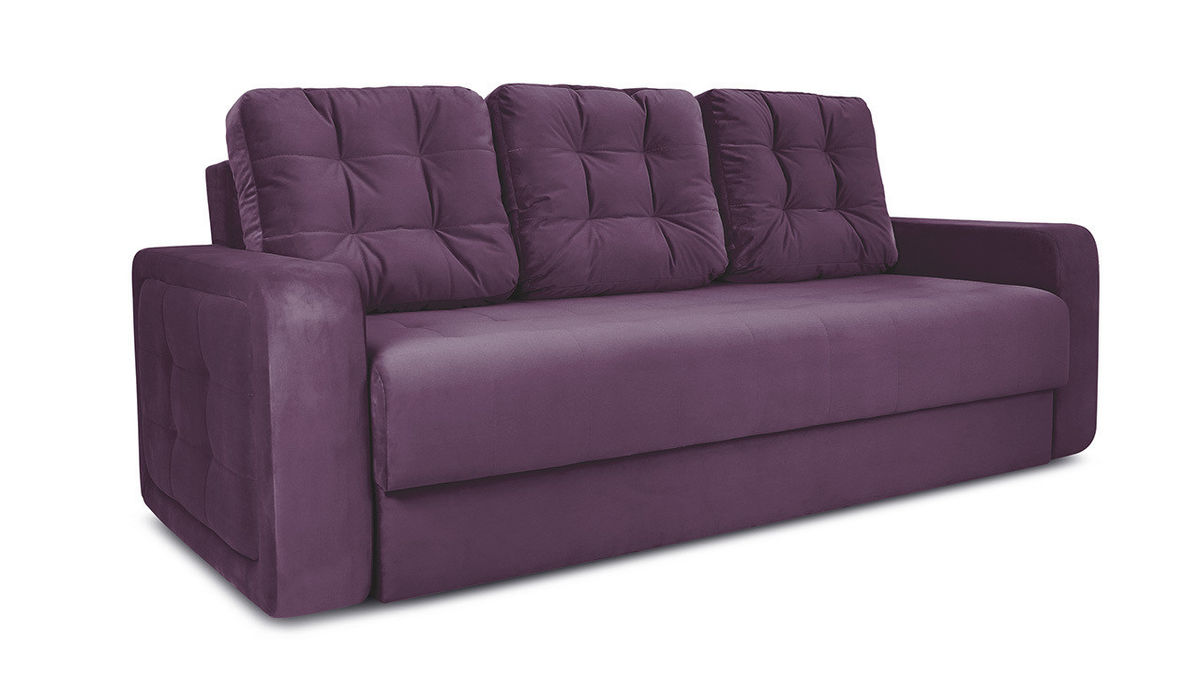 Диван ТриЯ «Колин» (Kolibri Violet (велюр) фиолетовый) - фото 1